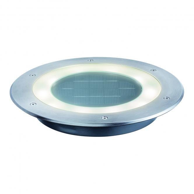 Paulmann LED-Solar-Bodeneinbauleuchten-Set Jupiter, Edelstahl