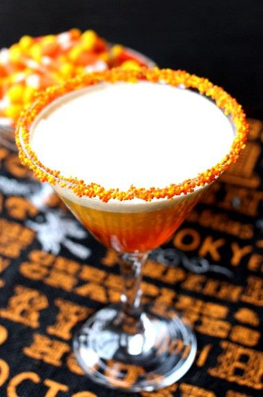 candy corn martini top