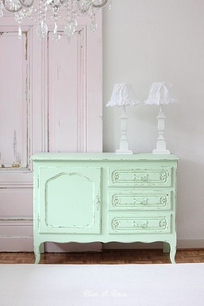 Chippendale Kommode mint // Chippendale commode by bleuetrose via DaWanda.com