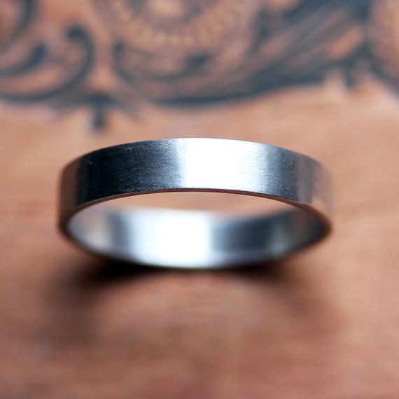 Mens palladium wedding band  mens wedding ring  by metalicious, $300.00