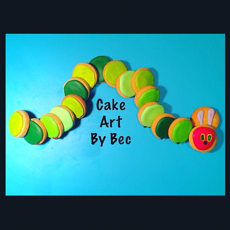 Hungry little caterpillar cookies.