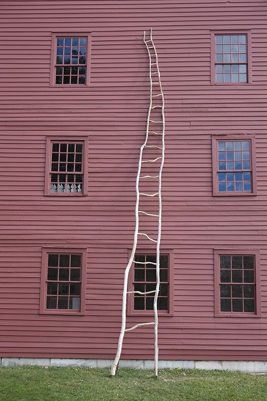 A ladder by artist Jon Brooks is one of several art installations in the village, Modern Wings & Shaker Roots