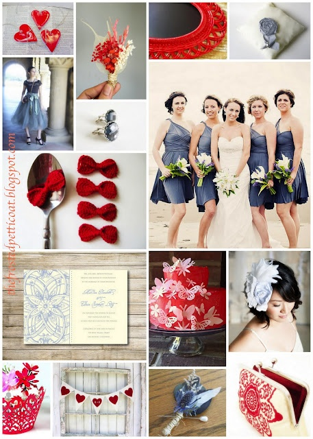 Red white & blue wedding by The Frosted Petticoat