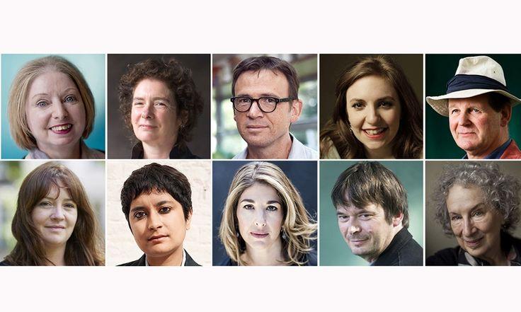 What books did they read this year? (Top row from left) Hilary Mantel, Jeanette Winterson, David Nicholls, Lena Dunham, Michael Morpurgo; (bottom row) Eimear McBride, Shami Chakrabarti, Naomi Klein, Ian Rankin, Margaret Atwood.