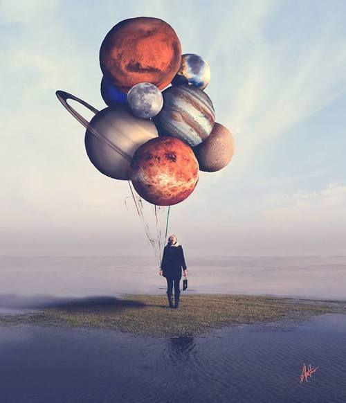 Planet balloons