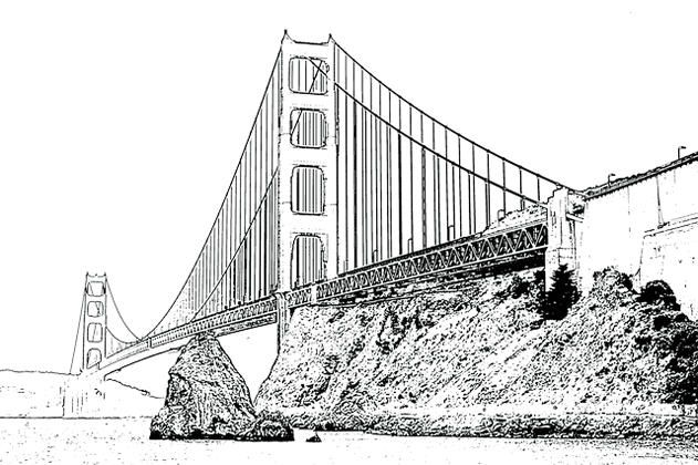 Read Moregolden Gate Bridge Coloring Online Coloring Pages For