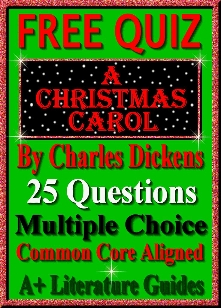 A Christmas Carol FREE QUIZ! 25 questions, multiple choice, common core aligned.