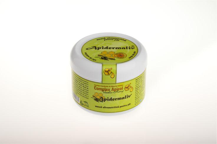 Ultranourishing hair mask  olive oil, royal jelly, shea butter  Apidermaliv masca ultranutritiva pentru par