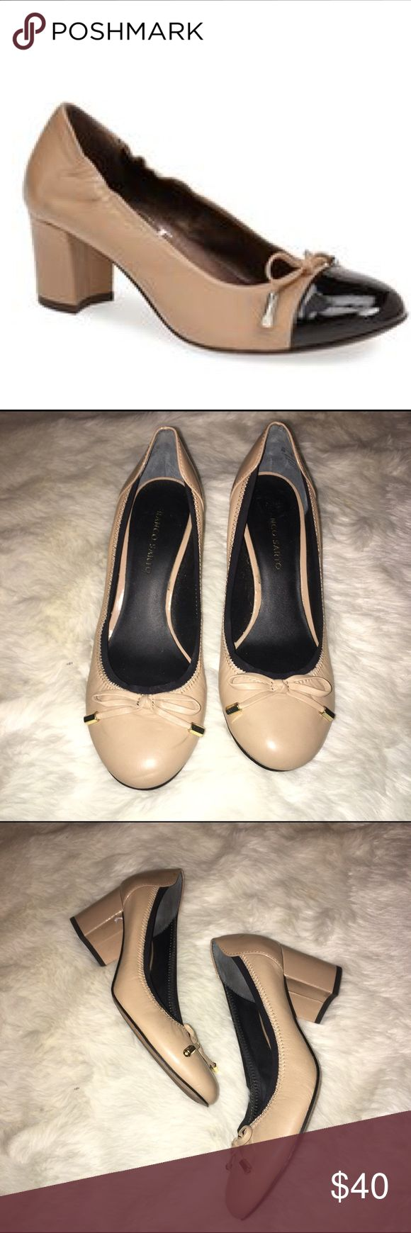 ✂️firm price✂️Franco Sarto chunky heels Gorgeous scrunch side Franco Sarto chunky heel Sz 9. Excellent gently worn. A few scraps on bottom other wise pristine Franco Sarto Shoes Heels