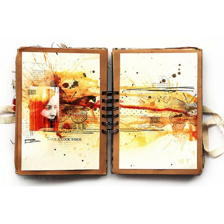 Арт-журнальный разворот | CuteCut #скрапбукинг #скрап #scrapbooking #scrap #handmade #ручнаяработа #творчество