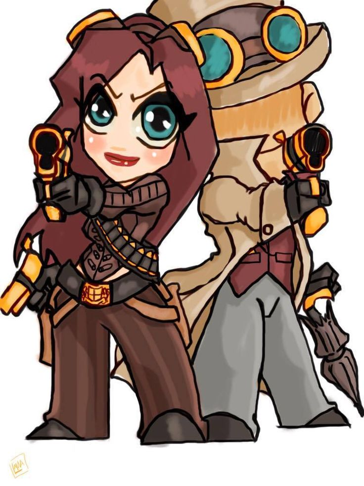 Adorable Eliza and Wellington, by Denise Lhamon. Once again Welly's face avoids being shown... #steampunk