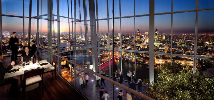 The Shard Designed By Italian Architect Renzo Piano Officially Opened To The Public On February 1 2013 London Restaurants London Guide The Shard London