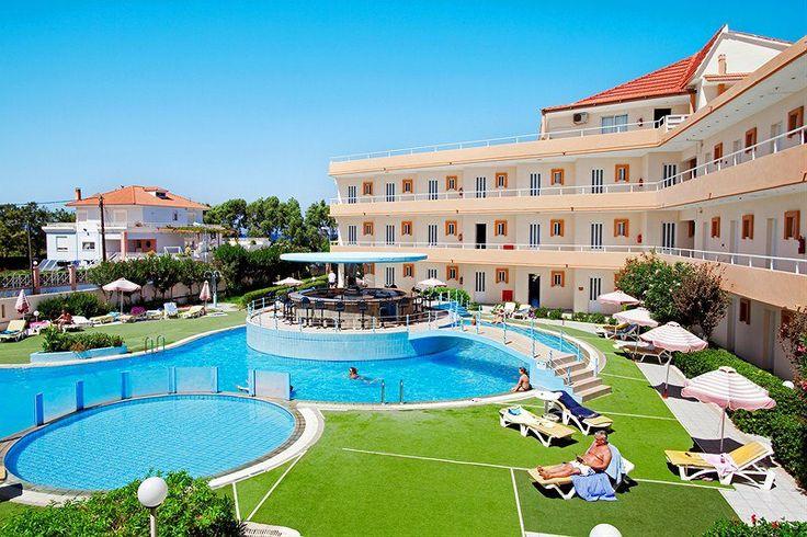 Our lovely hotel, Bayside Katsaras, Kremasti Beach <3