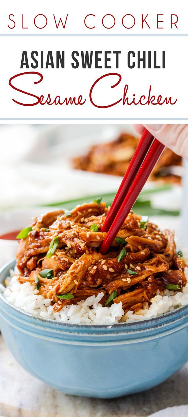 Slow Cooker Asian Sweet Chili Sesame Chicken
