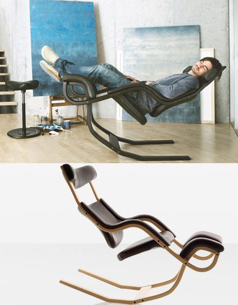 """The makers claim that sitting in this chair is """"probably the closest you'll ever get to zero gravity"""", reclining to the point where you feel almost weightless."""
