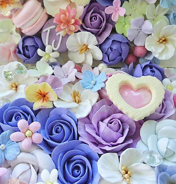 ガラスケースの中に広がる花嫁様の好きな世界を表現*お問い合わせは*claydesign2000@gmail.com