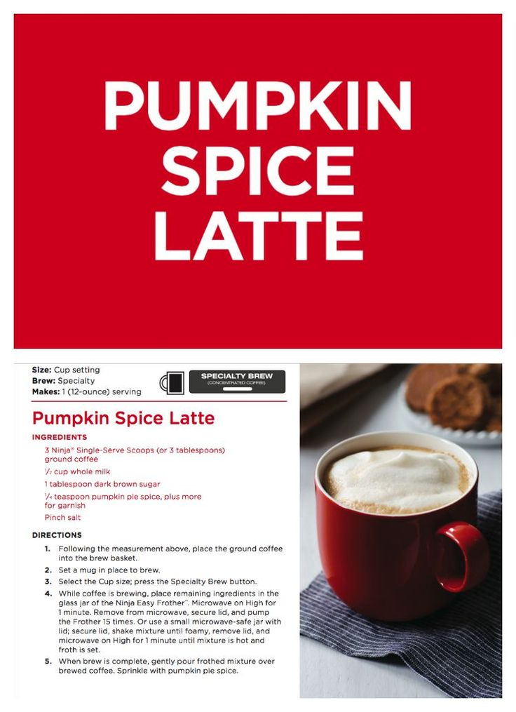 1000+ images about Ninja Coffee Bar Recipes on Pinterest Almond joy, Pumpkin spice latte and ...