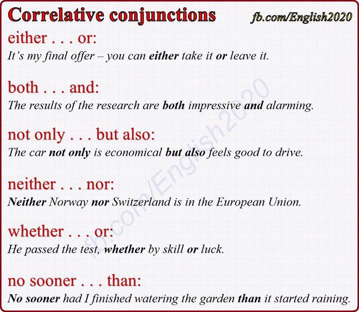 Forum | ________ Learn English | Fluent LandCorrelative Conjunctions | Fluent Land