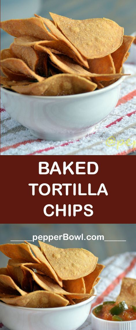 Baked Tortilla Chips Recipe / Baked Corn Tortilla Chip Recipe is the best snack that can be made with step by step pictures | http://pepperbowl.com via /pepperbowl/
