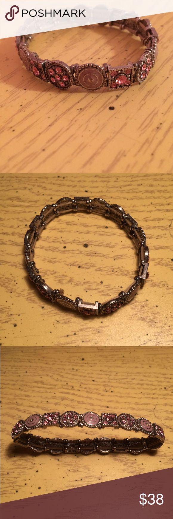 Stunning pink diamond bracelet 💗 Bracelet with pink diamonds, pink accents, and a silver base! Jewelry Bracelets