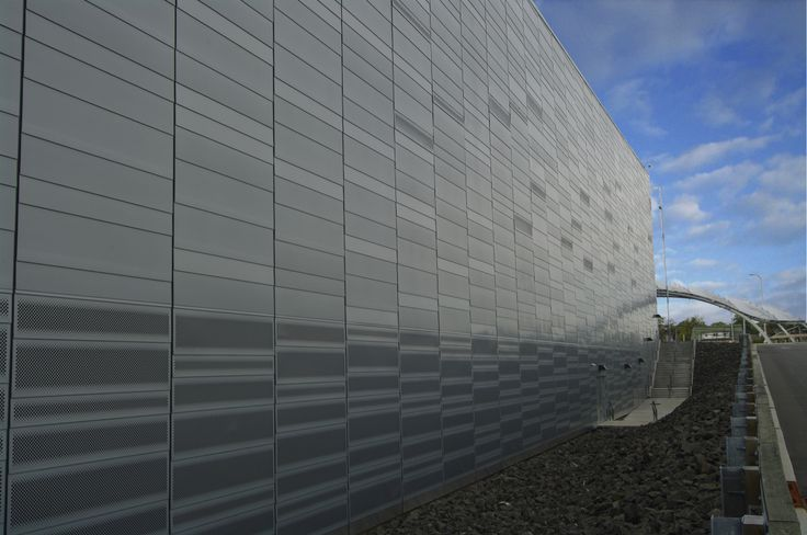 Empire City Casino, Yonkers, NY, Rheinzink Pre Weathered Blue Gray Zinc, Solid and Custom Perforated Flatlock Wall Panels
