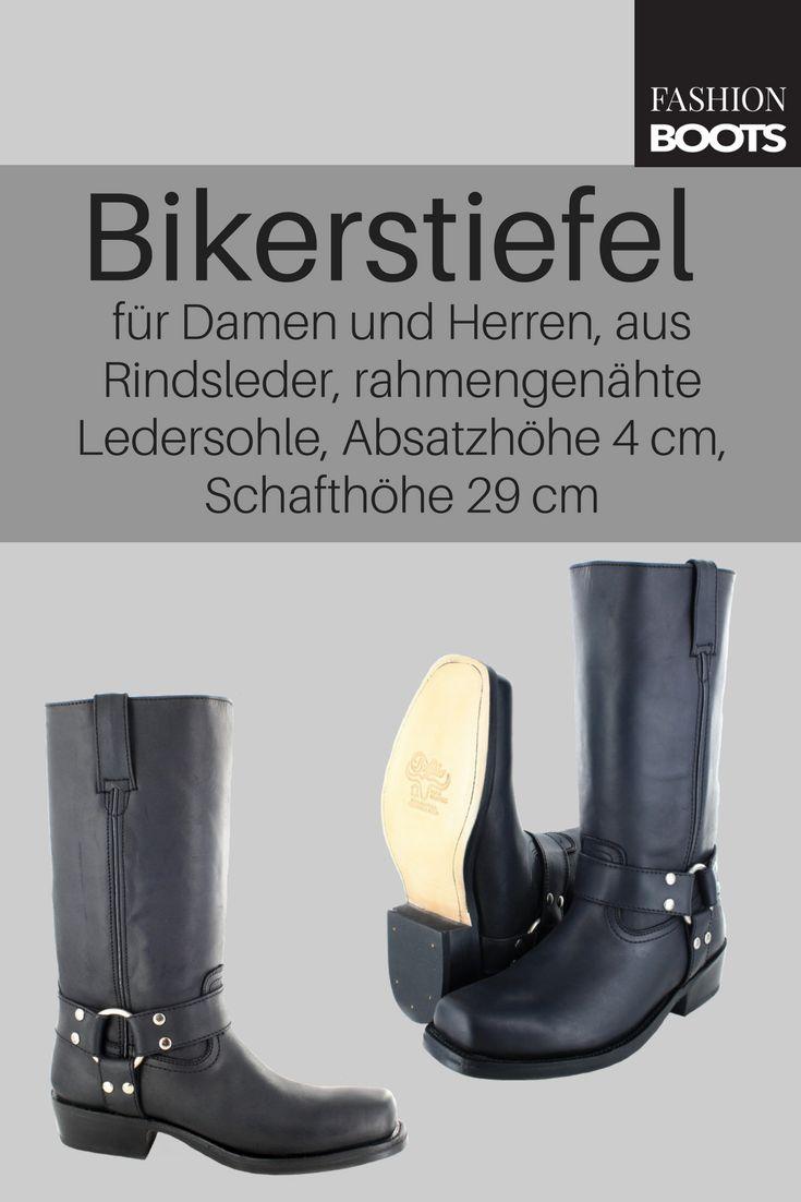Buffalo Boots 1801 Bikerstiefel - schwarz | Kultiger Damen und Herren Bikerstiefel in gefettetem Rindsleder