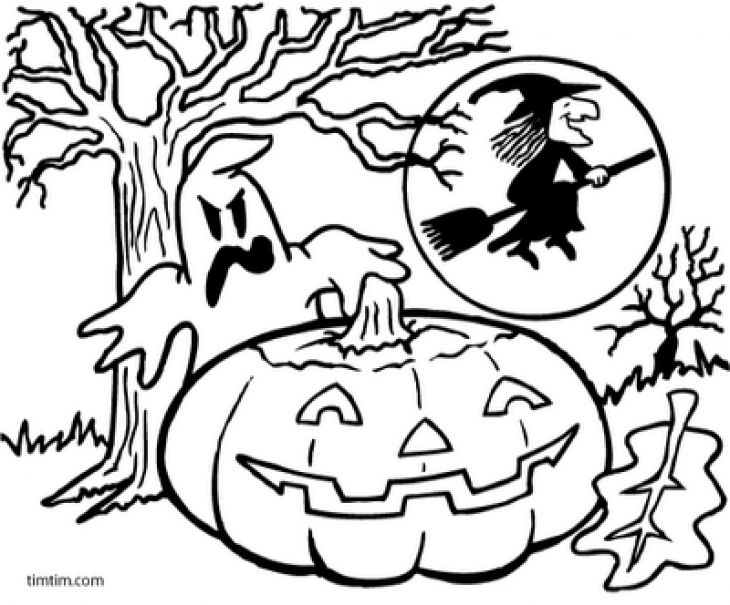 Halloween Printable Coloring Page Activities