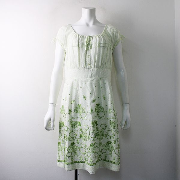 jane marple ジェーンマープル コットンヒヨコ刺繍ドットワンピース ファッションアイデア ファッション ワンピース