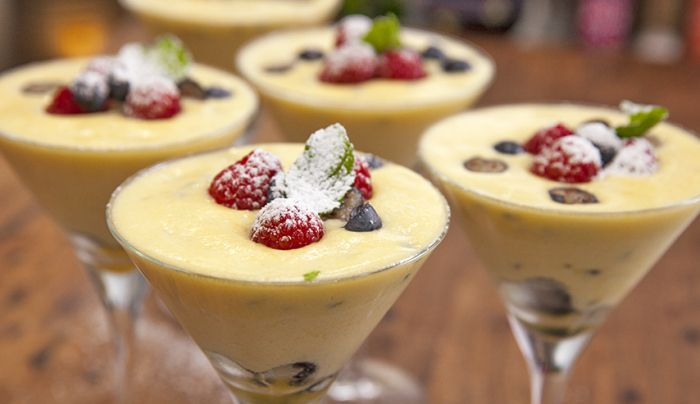 White Chocolate and Passionfruit Mousse
