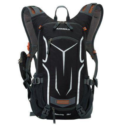 Lixada 18L impermeável moto ombro mochila ultraleve Outdoor Sports equitação Montanhismo Viagens Água potável Bag Unisex com capa de chuva (Schwa