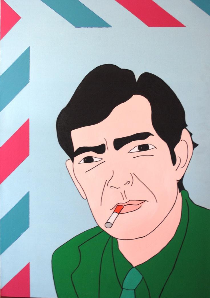 Retrato de Julio Cortázar  100x70cm