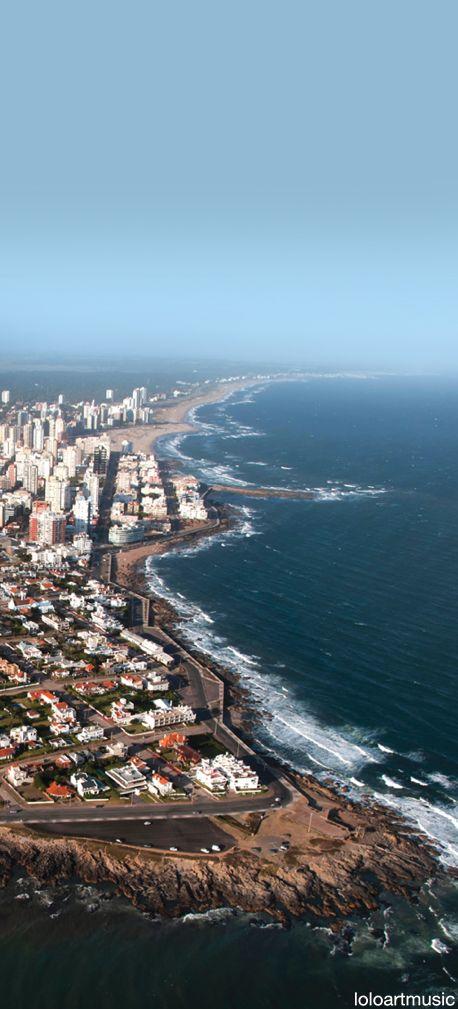 Punta del Este, Uruguay. Beach as far as can see**