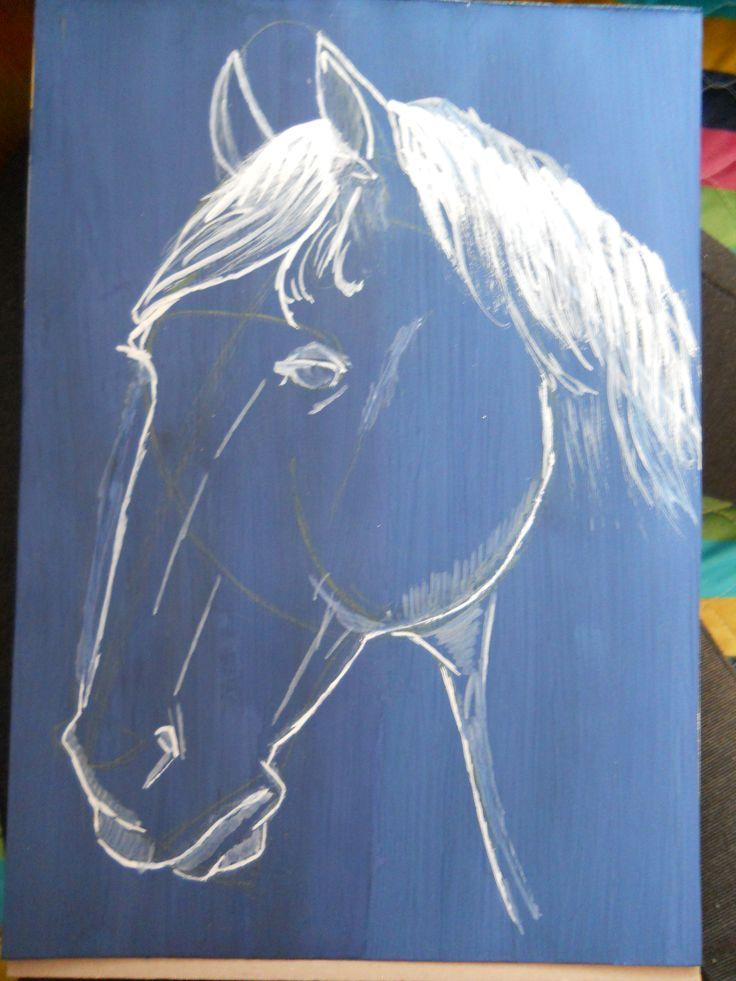 le bleu cheval