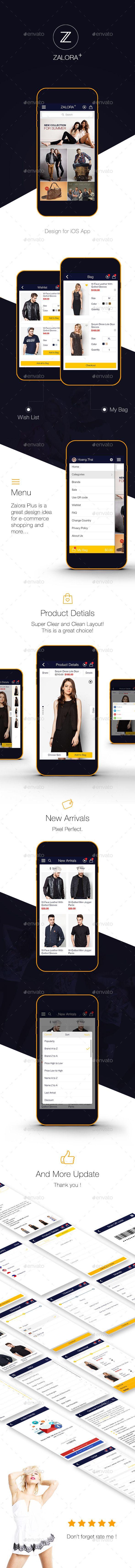 Zalora Plus Shopping UI for e-commerce UI Graphic #design Download: http://graphicriver.net/item/zalora-plus-shopping-ui-for-ecommerce-ui-graphic-/12582508?ref=ksioks