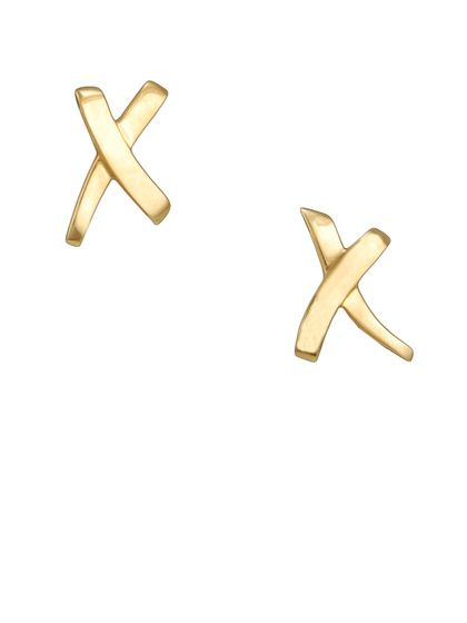 Tiffany Co Paloma Pico Gold Criss Cross Earrings