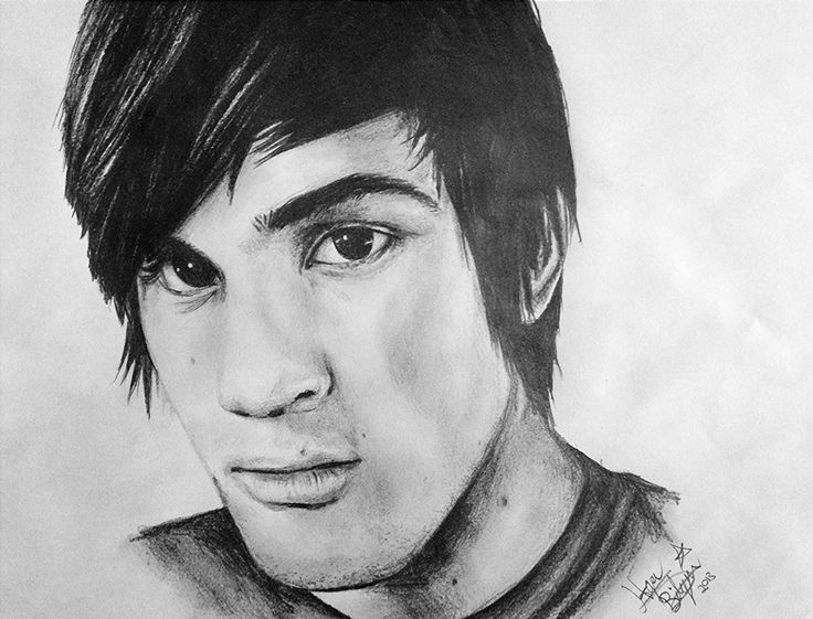 Made a pencil drawing of Anthony Padilla from Smosh <3