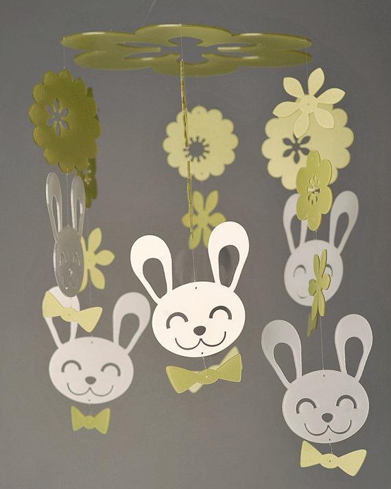 Spring Bunny Mobile (Grand)