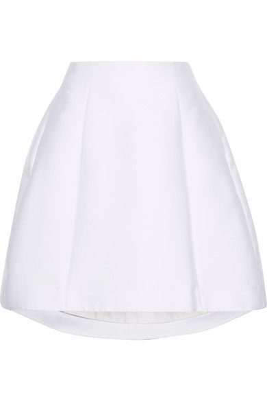 Adam Lippes | Fluted satin-twill mini skirt | NET-A-PORTER.COM