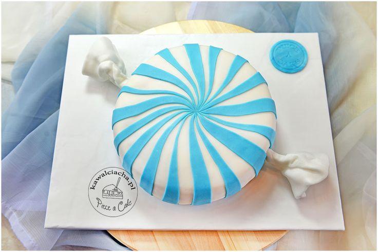 Tort w stylu angielskim bombon.  Więcej na http://www.pieceacake.pl