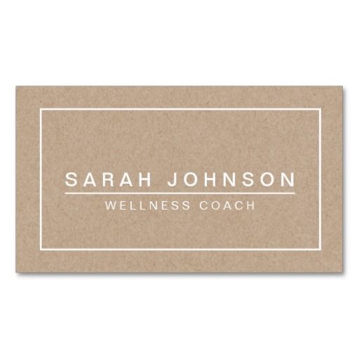 47 best business card images on pinterest business card design modern minimal on beige kraft paper effect business card reheart Gallery