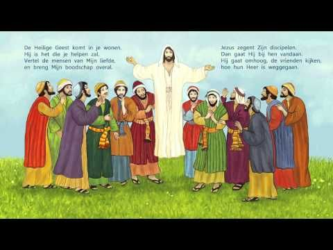 Hemelvaart:  Jezus gaat naar de hemel -  Bij dit verhaal is ook een PDF: www.bijbelidee.nl