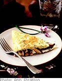 Pastel Omelet with Mushrooms, Goat Cheese and Fresh Herbs Read more ...