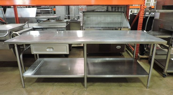 Commercial Stainless Steel Work Table w/ Drawer & Undershelf