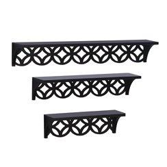 Melannco: Pierced Circles Shelves, Set of 3 $55.95