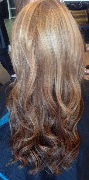 Reverse ombré- lighter roots, darker ends!!