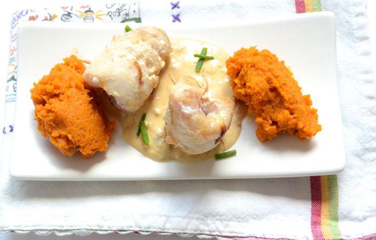 Filets de poisson et purée de carottes à l'orange
