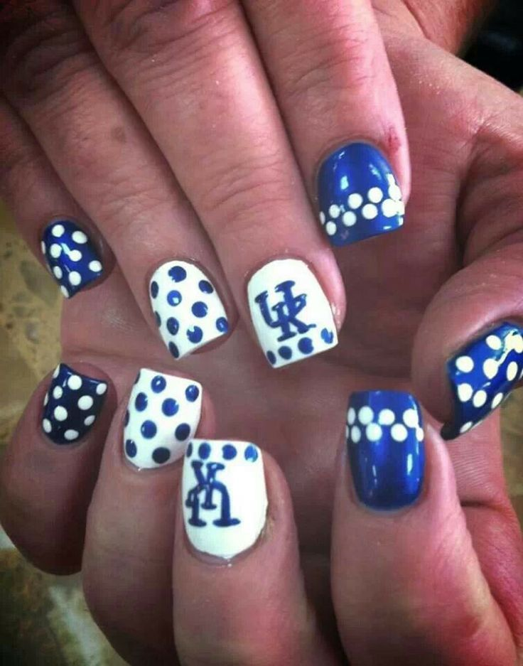 GO WILDCATS!!!  University of Kentucky Wildcats Nail Art