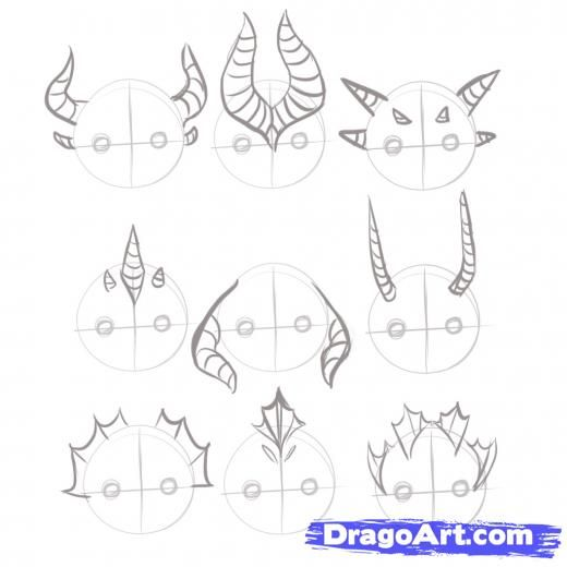 Step 2. How to Draw Easy Dragons
