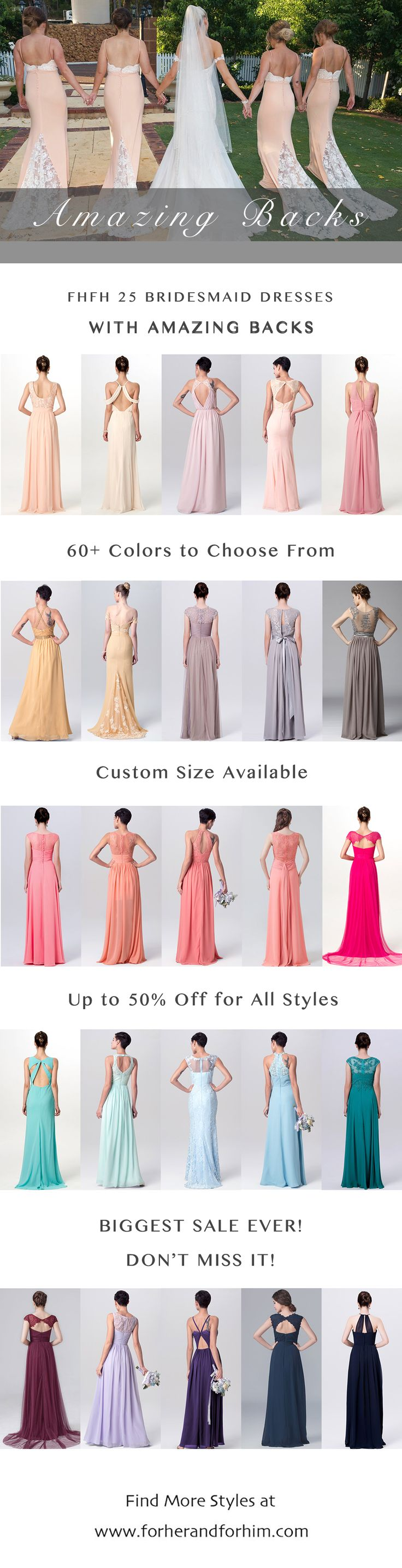Check FHFH 25 bridesmaid dresses with amazing backs! The beautiful back details of these bridesmaid dresses are just SOOOO dreamy, they're almost better than the front...