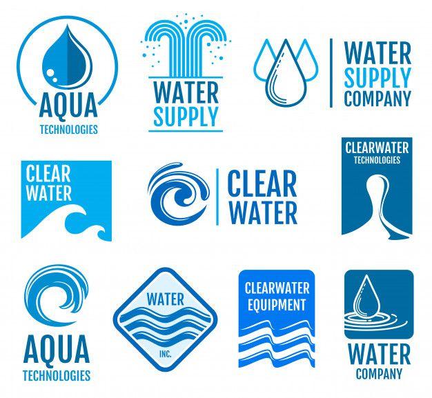 Fresh Water Vector Logos In 2020 Water Logo Vector Logo Water Branding